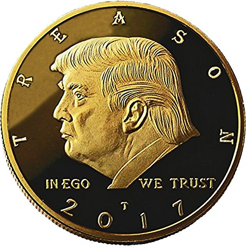 - Not My President - Original 24kt Gold Plated Anti Trump Gag Gifts Coin, Stand and Case - The Coin Says it all - Perfect Anti Donald Trump Gag Gifts Novelty For The Trump Hater In your Life by Xanadeu