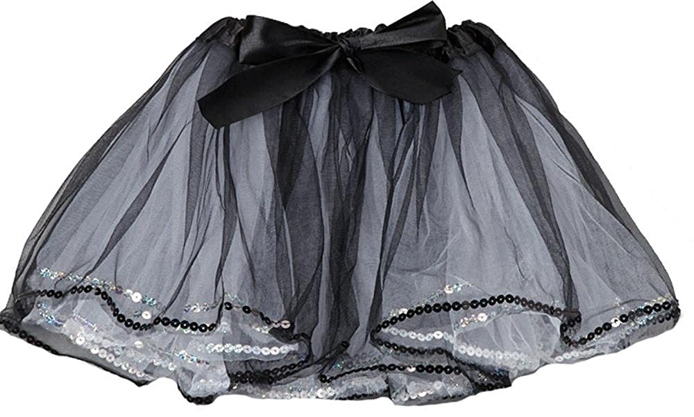 One Size wenchoice Girls Black /& White Sequin Tutu