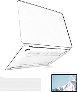 B BELK MacBook Pro 13 inch Case 2020 2019 2018 2017 2016 A2338 M1 A2289 A2251 A2159 A1989 A1706, Plastic Hard Shell Case Compatible with MacBook Pro 13 inch + Screen Protector + Keyboard Cover, Clear