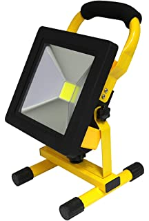 20w portable led work light cordless rechargeable ip65 12v led light 20w slim rechargeable led portable work floodlight indooroutdoor use ip65 cordless aloadofball Image collections