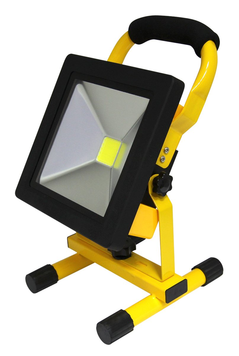 20w Slim Rechargeable LED Portable Work Floodlight Indoor/Outdoor Use IP65 Cordless [Energy Class A+] Long Life Lamp Company SL20PFL