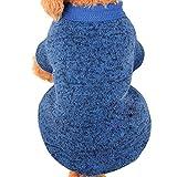 Farjing Clearance Pet Dog Sweater,Warm Puppy Sweater Fleece Sweater Clothes (2XL,Sky Blue
