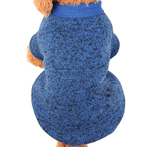 ter,Warm Puppy Sweater Fleece Sweater Clothes (XL,Sky Blue ()