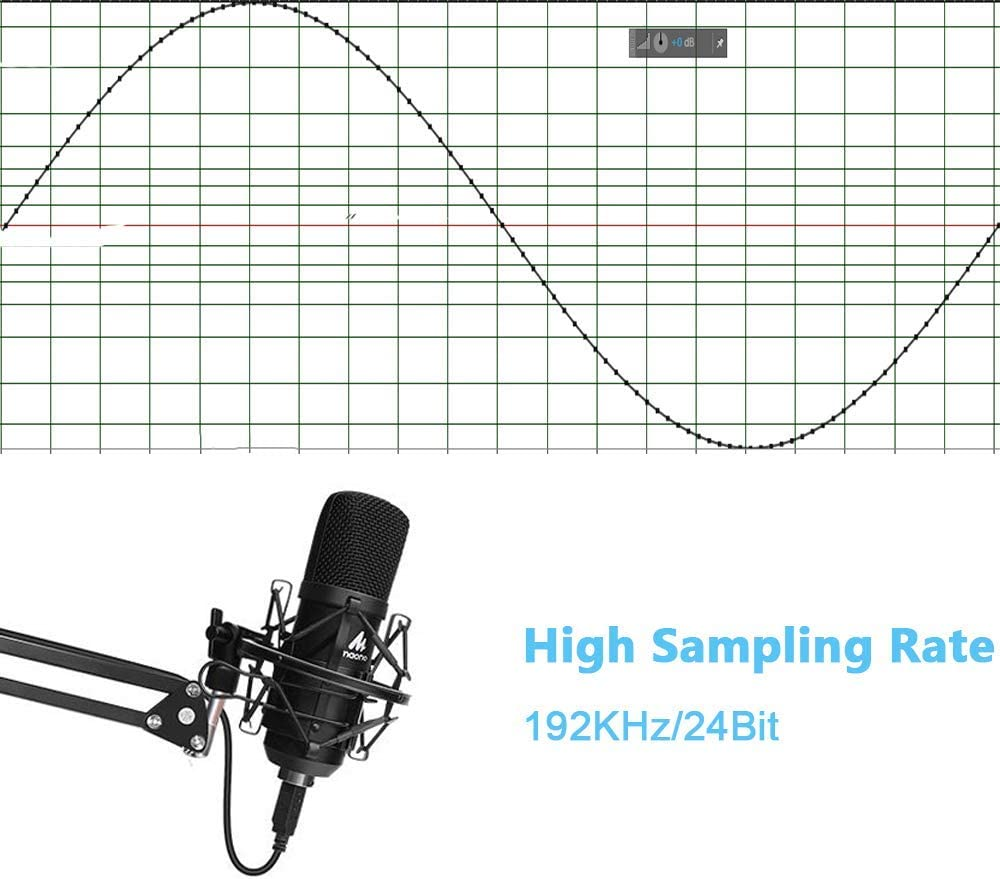 USB Microphone Kit 192KHZ/24BIT Plug & Play MAONO AU-A04 USB Computer Cardioid Mic Podcast Condenser Microphone with Professional Sound Chipset for PC Karaoke, YouTube, Gaming Recording: Musical Instruments