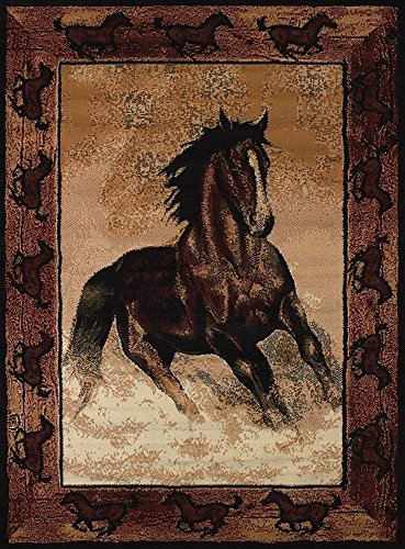 United Weavers Legends Area Rug 910-06930 Stallion Border 5