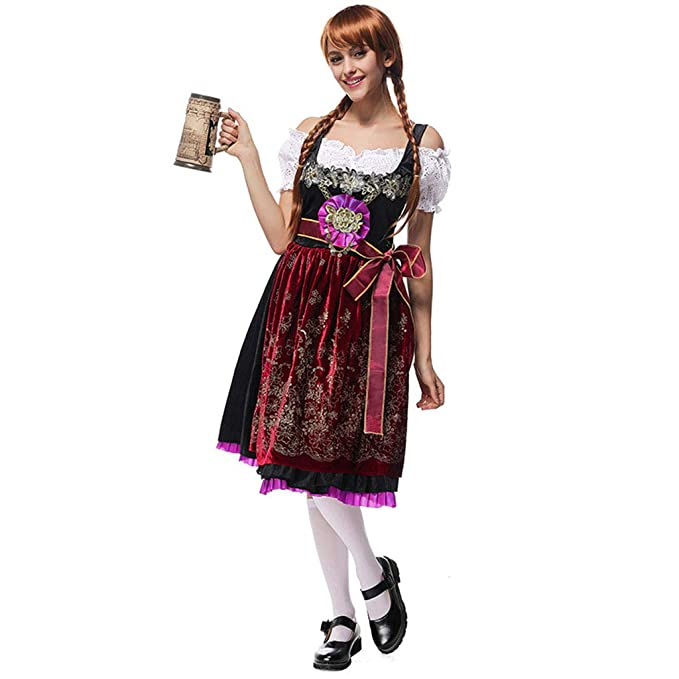 QQWE Traje de niña de la Cerveza, Oktoberfest Vestido de ...