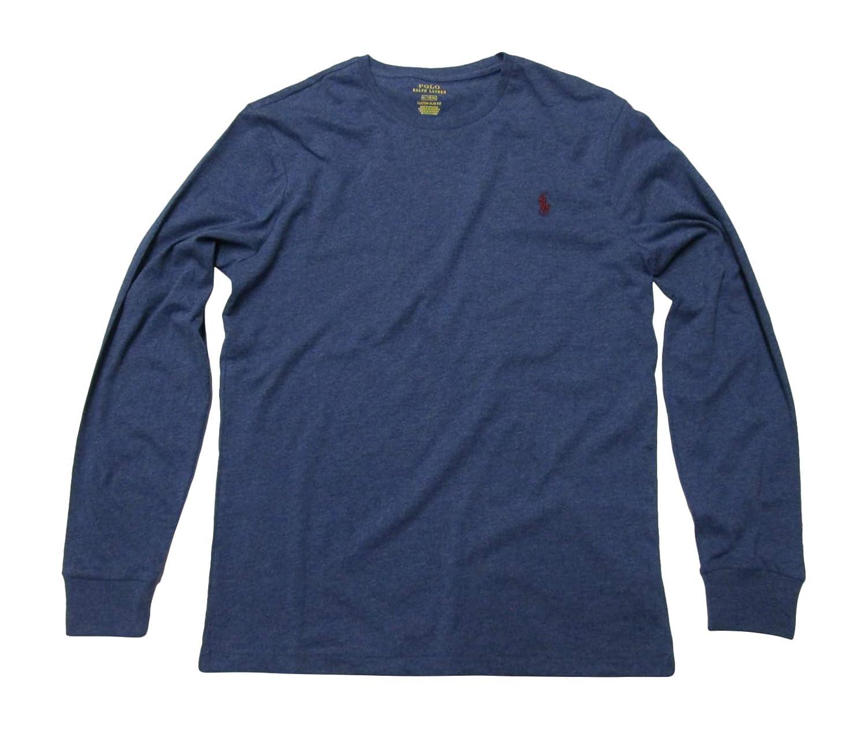 Polo Ralph Lauren Mens Long Sleeve Crew Neck Custom Slim Fit T-Shirt