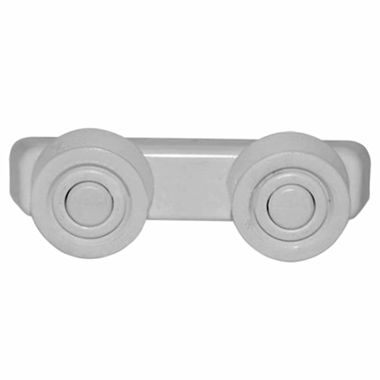 SPARES2GO Basket Drawer Runner Rail Support Wheels & Brackets for Currys Essentials Dishwasher (25mm, 2 Sets)