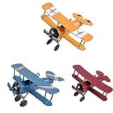 TTKBHHQ 3pc Vintage Metal Planes Model Iron Retro Aircraft Glider Biplane Pendant Model Airplane Kids Toy,Christmas,Home Deco