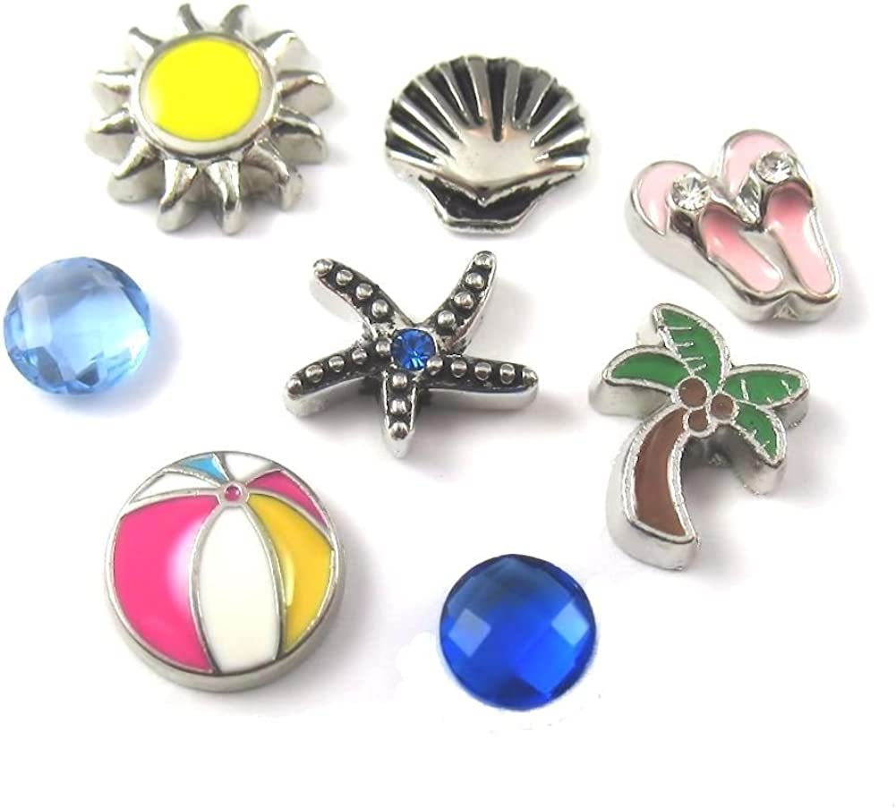 Palm Tree Charm for Floating Glass Living Memory Locket