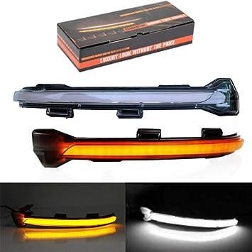 con luce ad accensione progressiva e guscio trasparente per specchietto retrovisore Indicatore di direzione dinamico a LED