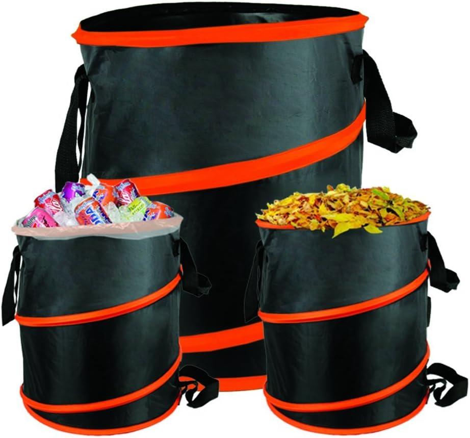 The Elixir Deco 10 Gallon Pop-up Gardening Bag Garden Spring Bucket for Year/Lawn Leaf Trash Container