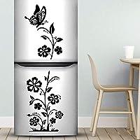 Pegatinas de pared para nevera, diseño de mariposas y flores, decoración de cocina, decoración de cocina, recámara…