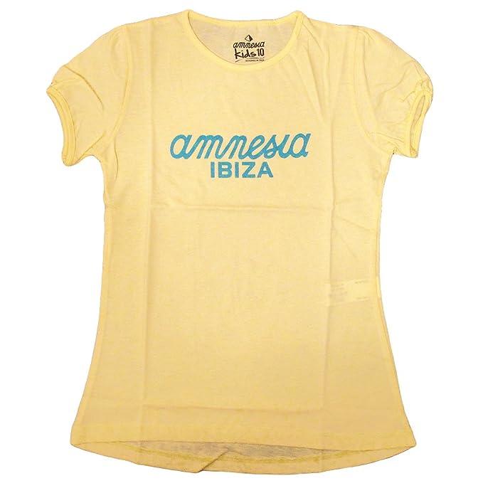 Amnesia Ibiza: Camiseta Niñas con Logo Clásico: Amazon.es: Ropa y accesorios