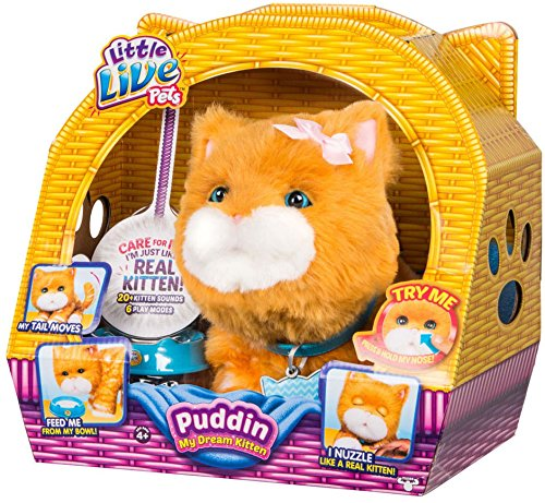 Moose Toys Little Live Pets My Dream Kitten Puddin Figure