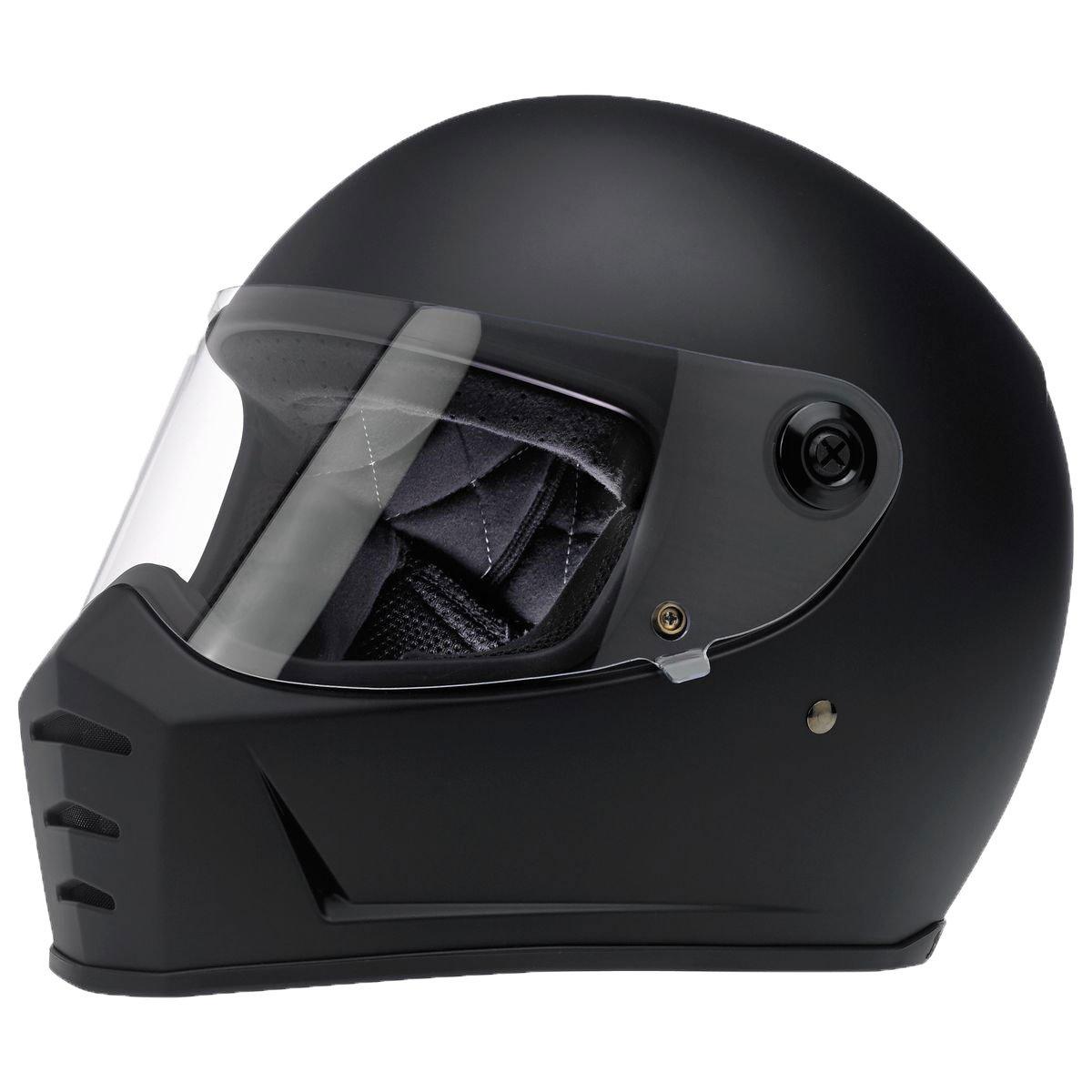 Biltwell Lane Splitter Solid Full-face Motorcycle Helmet - Flat Black / Medium by Biltwell