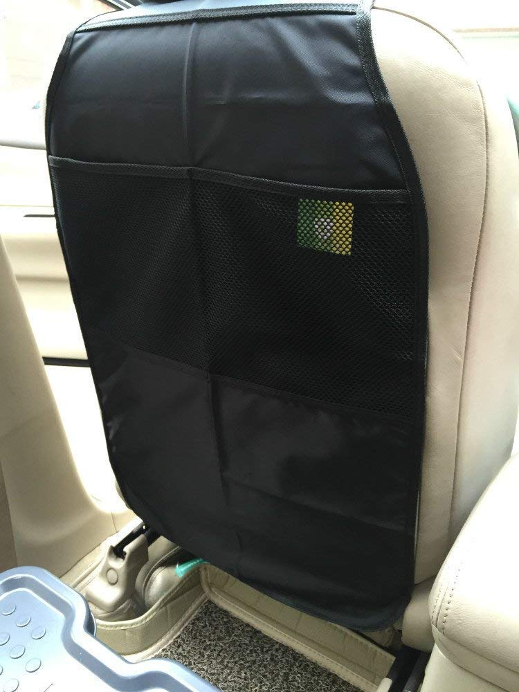 2 Count Kick Mats Car Seat Back Protector - Black Hhome HHM-024-BL
