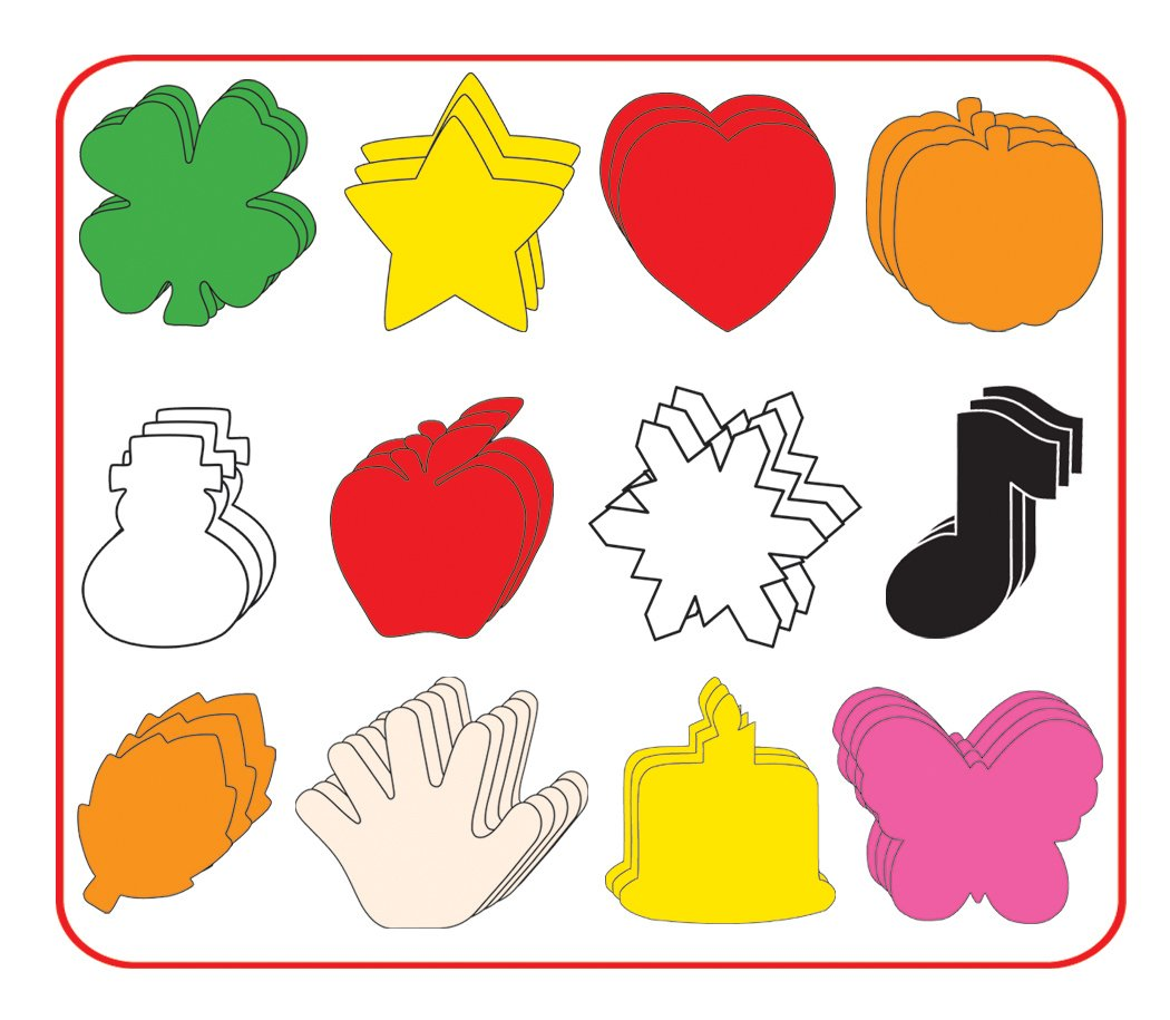 Seasonal Cut-Out Assortment: 3'' by Creative Shapes Etc.