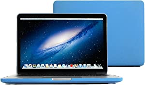 MacBook Pro Retina 13 Case, GMYLE Hard Case Matte for 13 Retina MacBook Pro - Shakespeare Blue Rubberised (Rubber Coated) Hard Case Cover