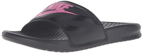 625e4cf20a8c0 Nike Women s Benassi Just Do It Walking Shoe Black Pink  Amazon.ca ...