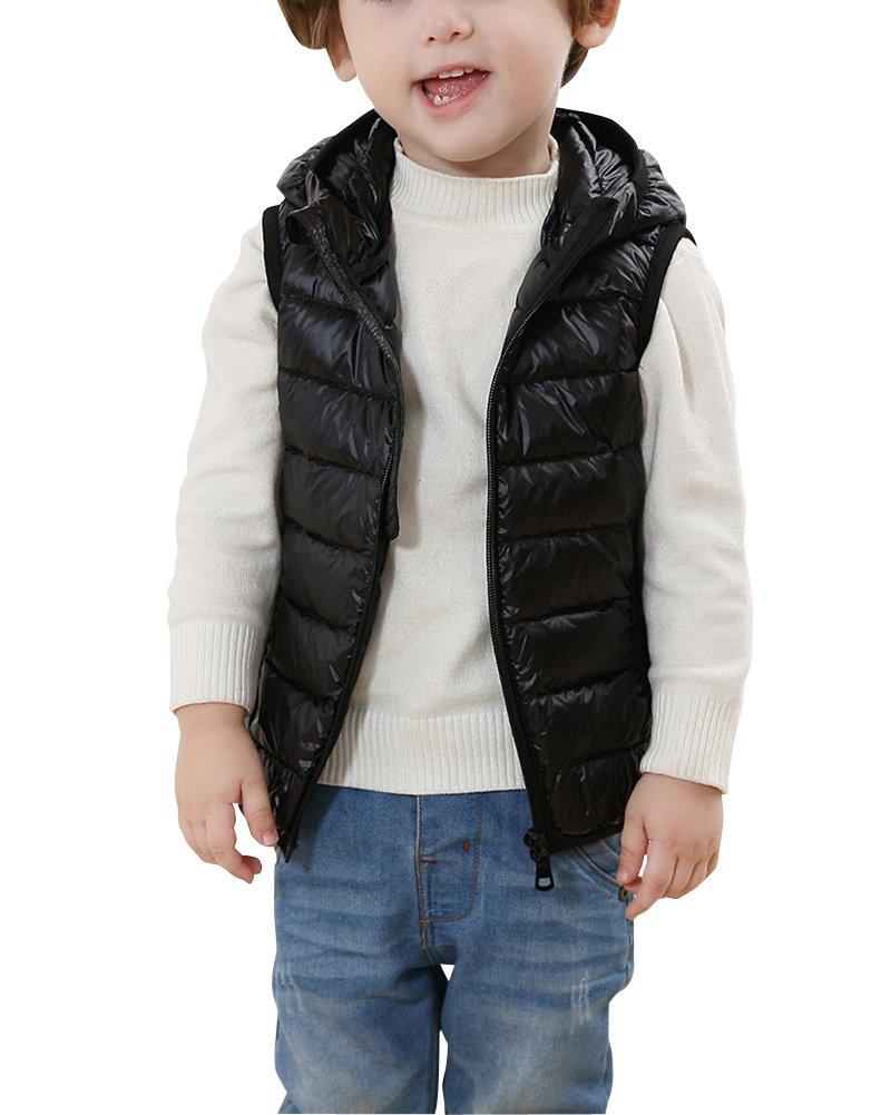 Bambini Ragazze Ragazzi Inverno Cappotto Con Cappuccio Leggero Gilet Giacche Piumino Senza Maniche
