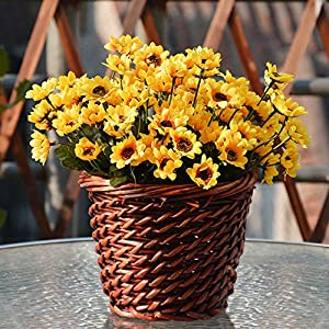 1 Bouquet 14 Heads Artificial Small Sunflower Home Wedding Christmas Decorations 2