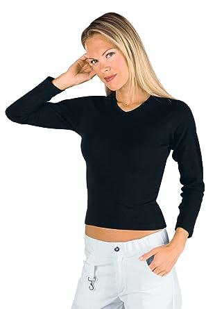 Isacco-Camiseta de manga larga para mujer, color negro, 100% algodón: Amazon.es: Ropa y accesorios