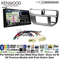 Volunteer Audio Kenwood Excelon DNX994S Double Din Radio Install Kit with GPS Navigation Apple CarPlay Android Auto Fits 2012-2014 Kia Rio (Gun Metal Grey)