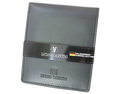 7c13cec62bf0 【箱無し】 メンズ 定番 二つ折り財布 サラマンダーボンデッドレザーLUCIANO VALENTINO(