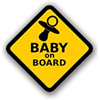 Baby on Board Sticker Sign, Baby Board Vinyl Decal Stickers, Baby car Sticker, Baby car Decal, Baby Announcement Board by A-B Traders.