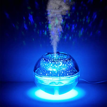 XHSHLID Ball Humidifier Moon Night Light With Aroma Lamp
