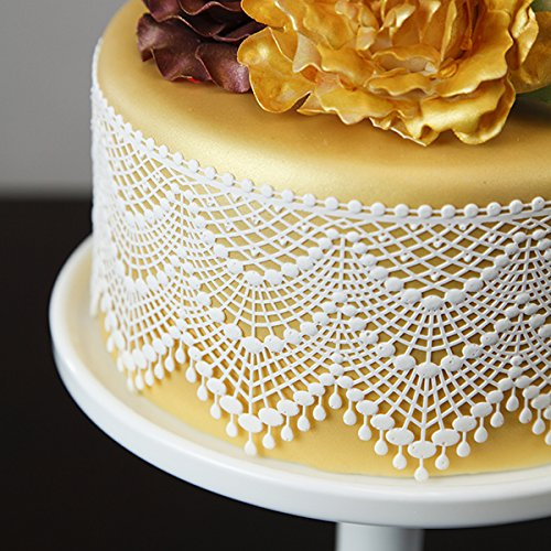 Tiered Elegance Lace 3-D Silicone Lace Mat by Chef Alan Tetreault