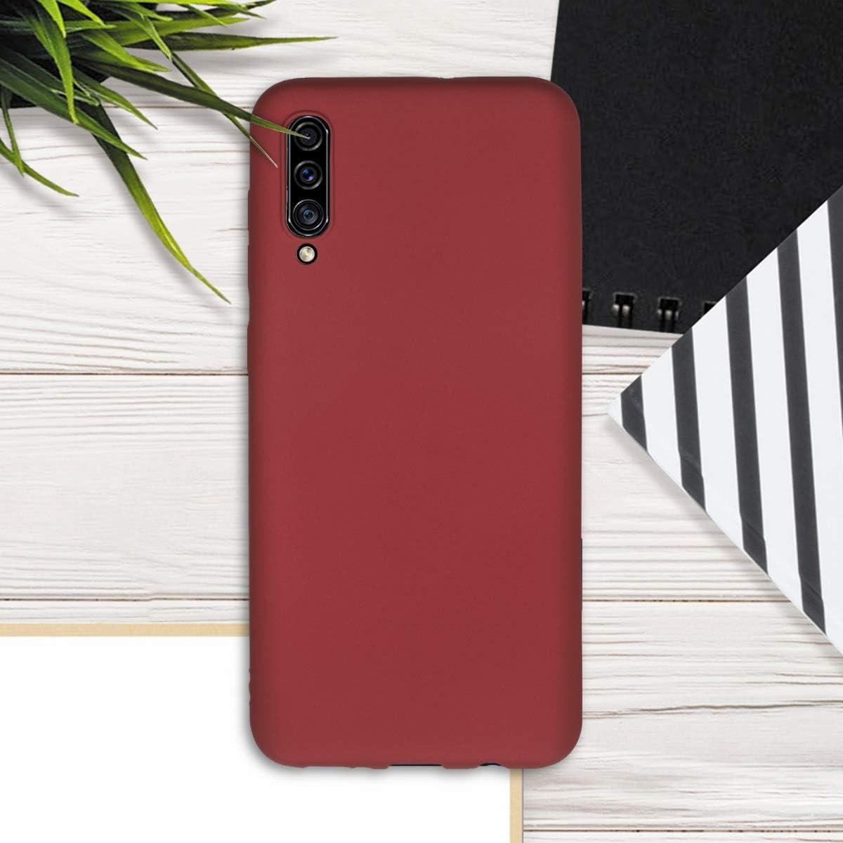 Protector Trasero en Rojo met/álico kwmobile Funda Compatible con Samsung Galaxy A30s Carcasa m/óvil de Silicona