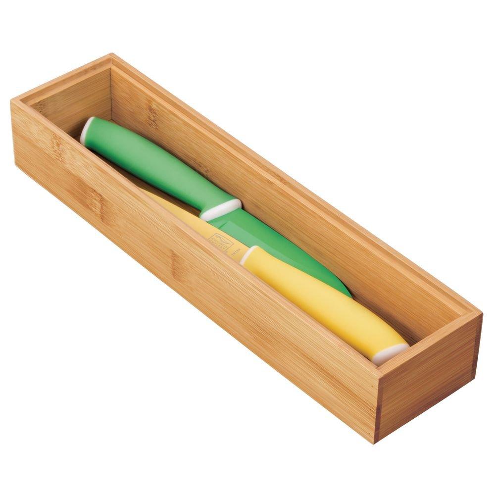 "InterDesign Formbu Stackable Drawer Organizer Box-Bamboo 3/"" x 12/"" x 2/"" 3 x 12 x 2"
