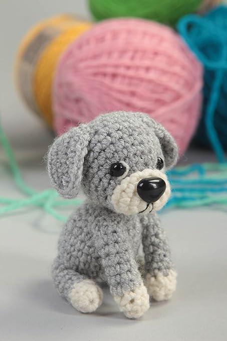 Juguete artesanal tejido a ganchillo peluche para ninos regalo original Perro: Amazon.es: Juguetes y juegos