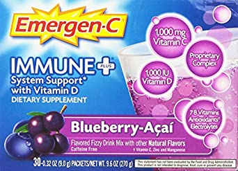 Emergen-C Immune +, Blueberry-Acai, 30 Count