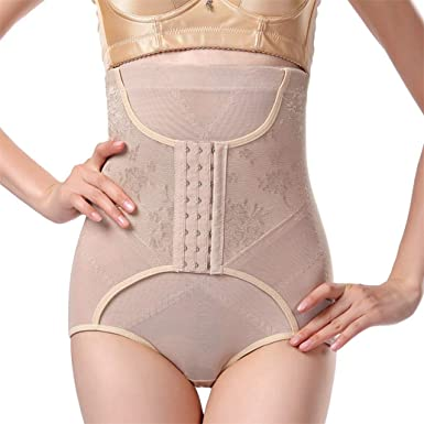 45a67a322742b ASO-SLING Women Control Panties High Waist Body Shaper Trainer Panty with  Hooks at Amazon Women s Clothing store