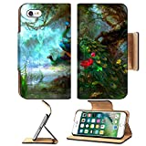 iPhone 7/7s Wallet Case,MSD Unique Custom Phone Case Leather Design for peacock bird nature blue animal feather green wildlife colorful beauty color tail beautiful peafowl eye