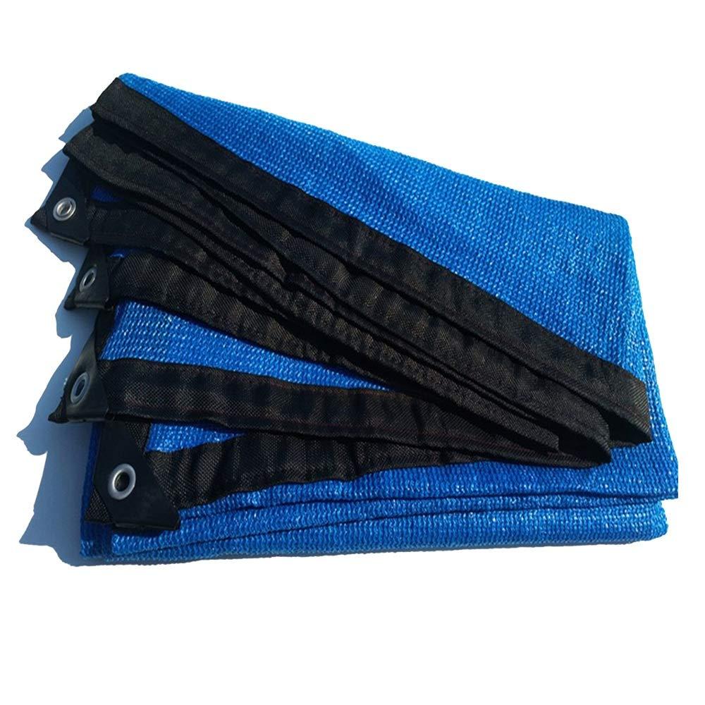 Tenda da sole Domestica Blu 8 Pin Parasole Rete Solare Protezione Solare Isolamento Netto Piscina Esterna Balcone (colore   Blu, Dimensioni   4x4m)