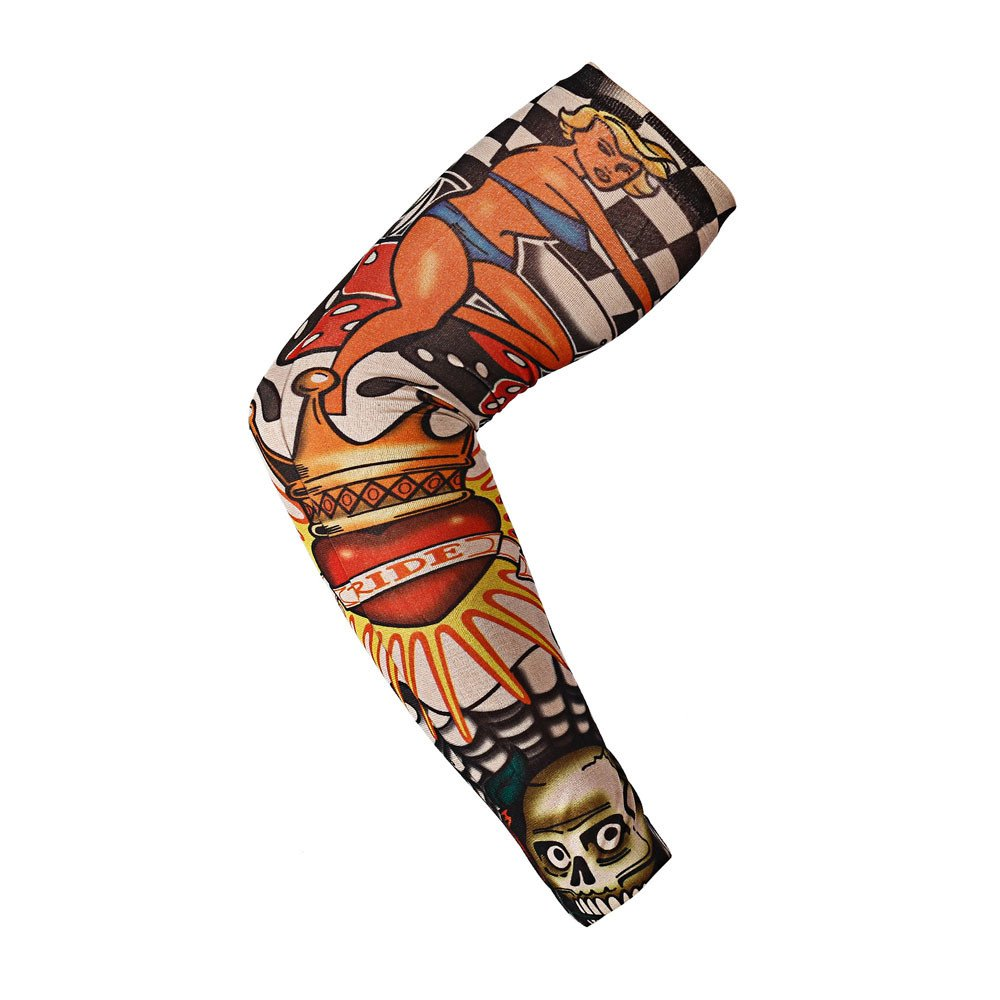 FEDULK Tattoo Arm Sleeves Sunscreen Sleeves Body Art Stockings Protector Stretchable Cosplay Accessories(M)