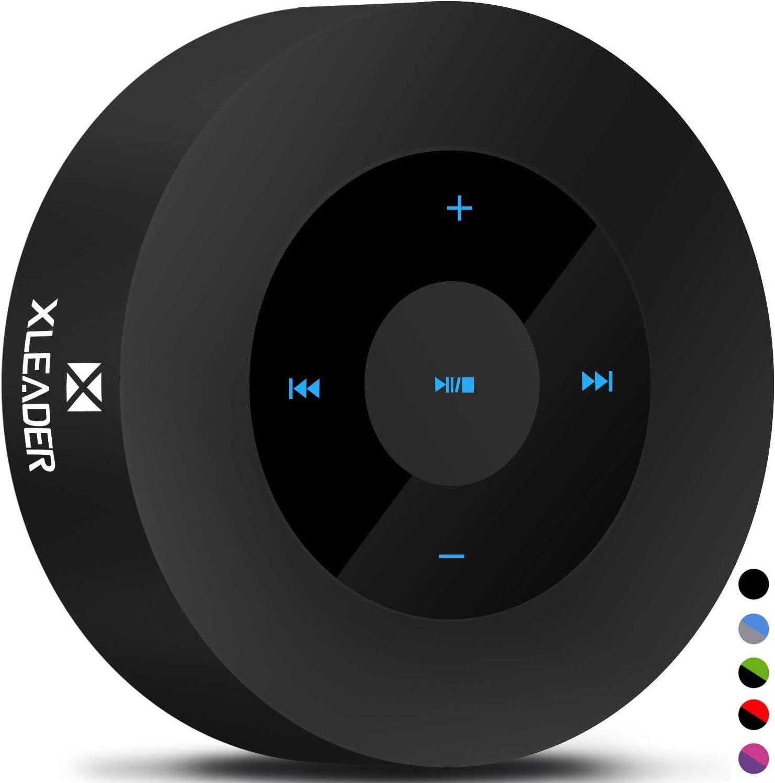 XLEADER SoundAngel (2 Gen) Altavoz Bluetooth Bajo de 5W con Estuche Impermeable IPX7, 15h Música, Diseño Smart Touch, Altavoces Portátil Inalámbrico para Teléfono Tableta Viajar cámping Negro