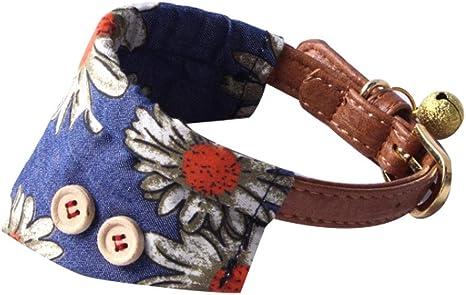 collier chien cuir bandana