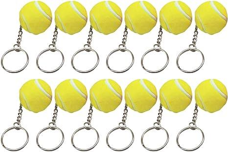Toyvian Llaveros de Globo de Tierra de 12 Piezas Colgante de Llavero de Mini Bola para Accesorio de Cintur/ón