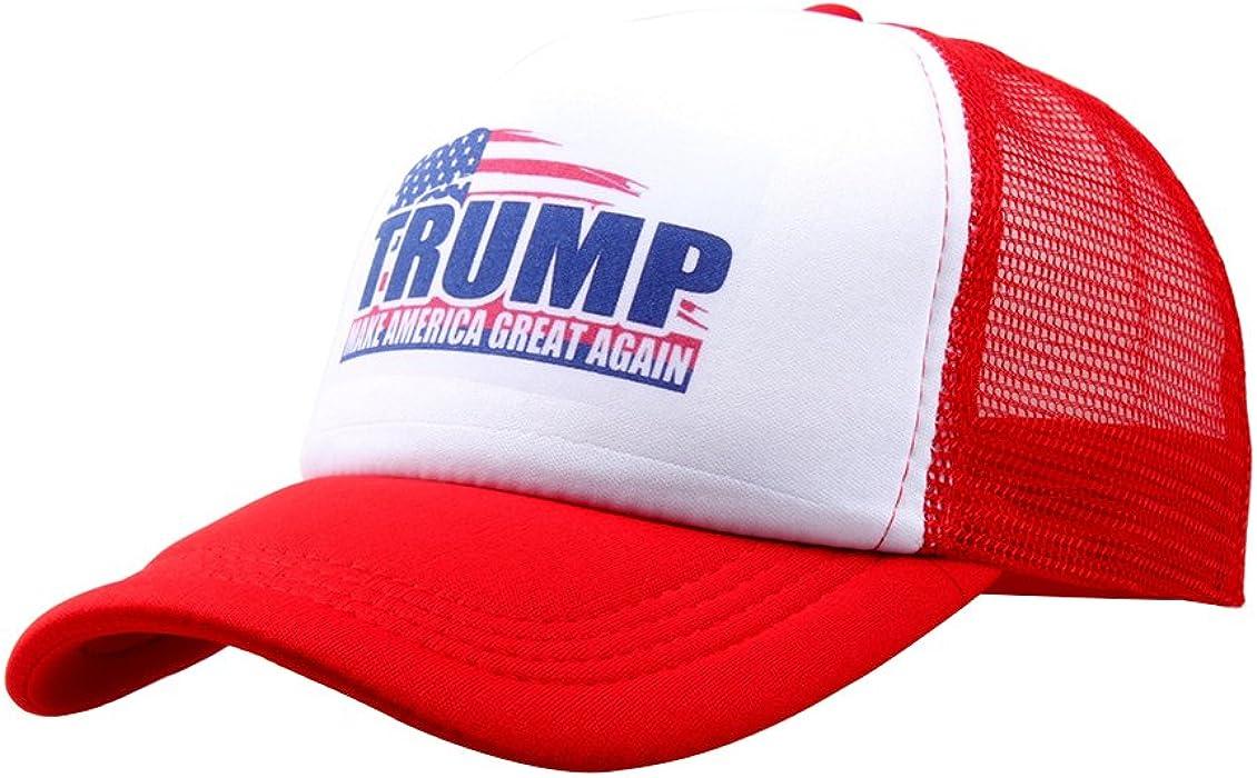 de19874b Unisex Donald Trump America Mesh Baseball Dad Cap Sun Snapback Hat Red. Back