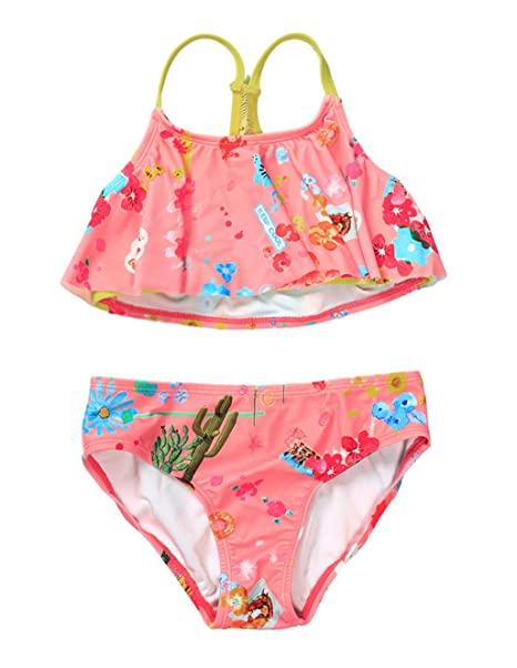 f6b828081b LEINASEN Kids Two Piece Bathing Suit for Little/Big Girls, Unique Crossback  Knot Strap