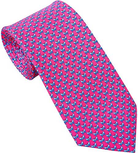 Sebastien Grey Men's 7 Fold Silk Tie