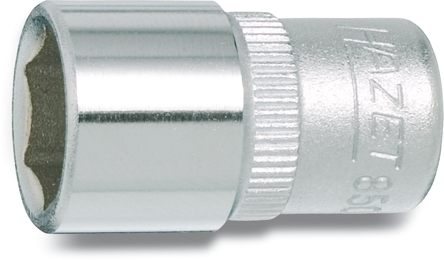 HAZET 850-5 25 mm 6-Point Hexagon Traction Profile Socket Chrome-Plated//Polished