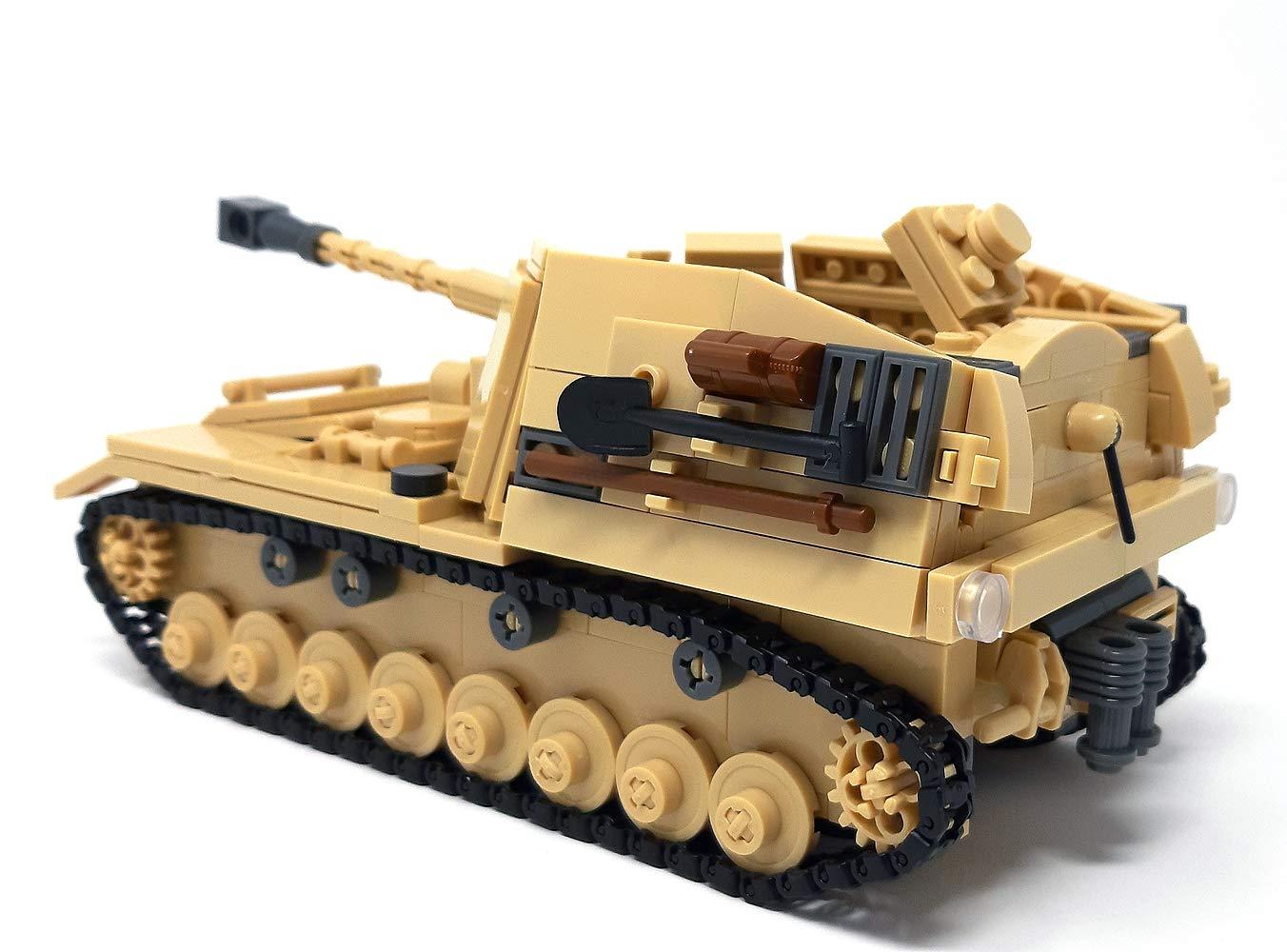 Modbrix WW2 Bausteine Panzer Jagdpanzer Sd.Kfz 164 inkl 3 Minifiguren Soldaten