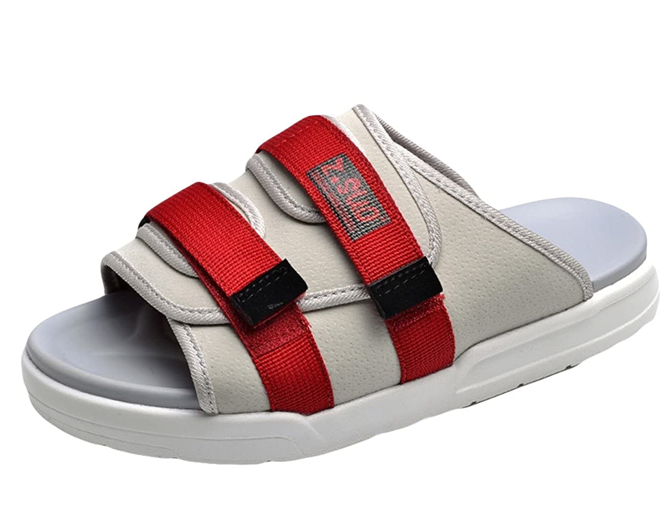 3c2aa246adad ONCEFIRST Unisex Sandals Slides with Double Velcro Straps Summer Beach  Slippers  Amazon.ca  Shoes   Handbags