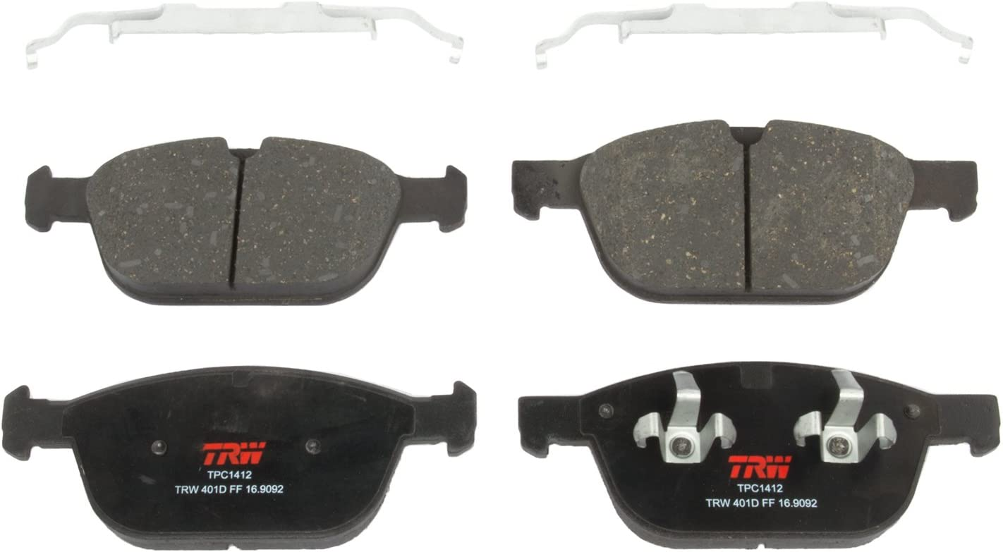 TRW Automotive TPC1412 Black Premium Disc Brake Pad Set